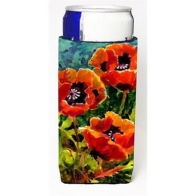 Carolines Treasures Flower Poppies Michelob Ultra s For Slim Cans 12 oz.