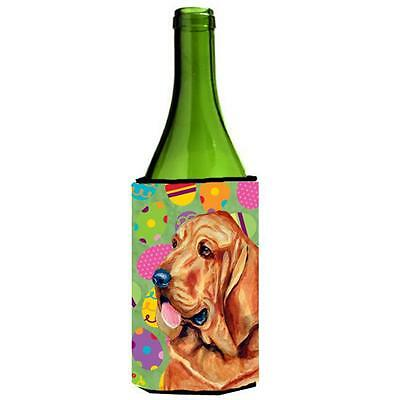 Carolines Treasures Bloodhound Easter Eggtravaganza Wine Bottle Hugger 24 oz.