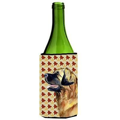 Carolines Treasures Leonberger Fall Leaves Portrait Wine Bottle Hugger 24 oz.