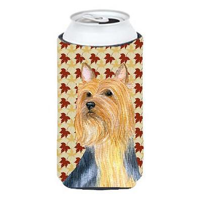 Carolines Treasures LH9091TBC Silky Terrier Fall Leaves Portrait Tall Boy Hugger