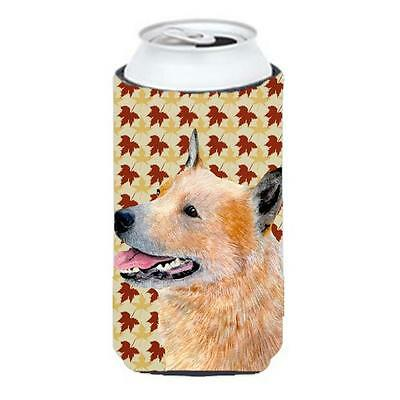Carolines Treasures Australian Cattle Dog Fall Leaves Portrait Tall Boy Hugger
