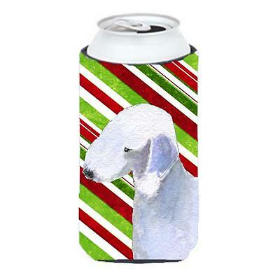 Bedlington Terrier Candy Cane Holiday Christmas Tall Boy Hugger 22 To 24 oz.