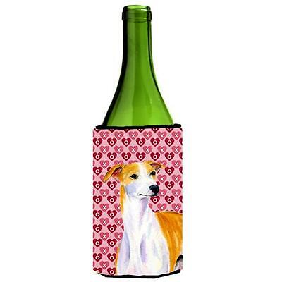 Whippet Hearts Love And Valentines Day Portrait Wine Bottle Hugger 24 oz.