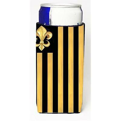 Black Gold Fleur De Lis Nation Michelob Ultra s For Slim Cans 12 oz.