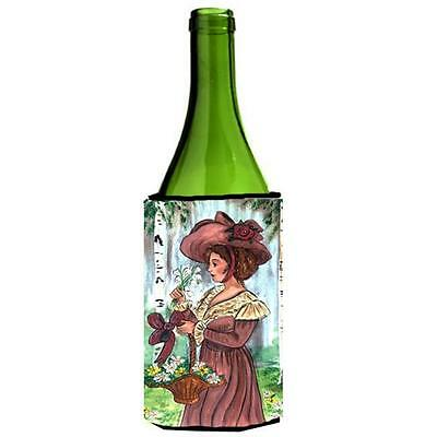 Carolines Treasures Fancy Lady with Hat and Flowers Wine Bottle Hugger