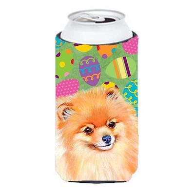 Carolines Treasures Pomeranian Easter Eggtravaganza Tall Boy Hugger 22 To 24 oz.