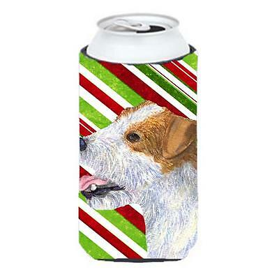 Jack Russell Terrier Candy Cane Holiday Christmas Tall Boy Hugger 22 To 24 oz.