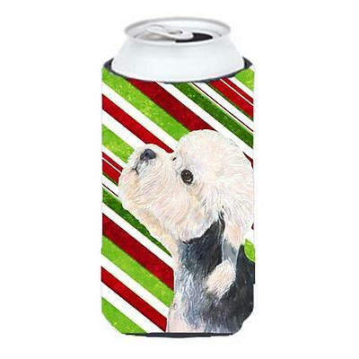 Dandie Dinmont Terrier Candy Cane Holiday Christmas Tall Boy Hugger 22 To 24 oz.