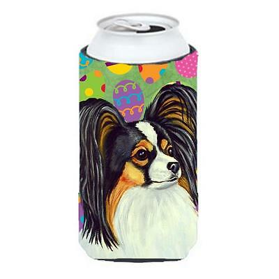 Carolines Treasures Papillon Easter Eggtravaganza Tall Boy Hugger 22 To 24 oz.