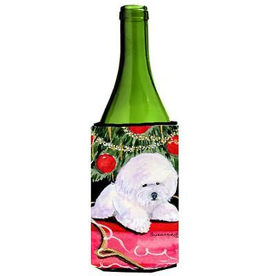 Carolines Treasures Christmas Tree With Bichon Frise Wine Bottle Hugger 24 oz.