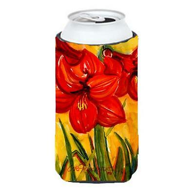 Carolines Treasures 6067TBC Flower Amaryllis Tall Boy Hugger 22 To 24 oz.