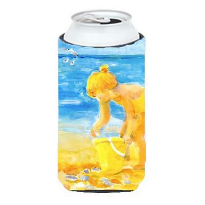Carolines Treasures Little Girl At The Beach Tall Boy Hugger 22 To 24 oz.