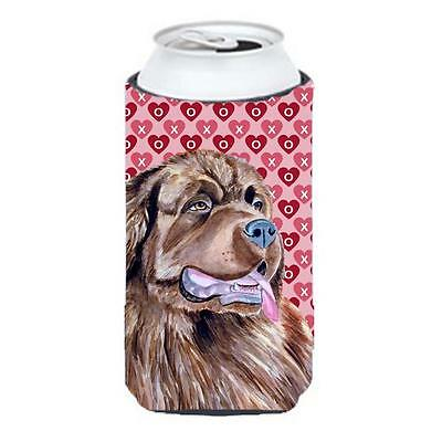 Newfoundland Hearts Love And Valentines Day Portrait Tall Boy Hugger 22 To 24...