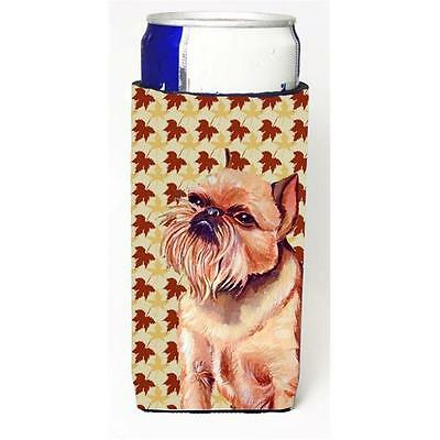 Brussels Griffon Fall Leaves Portrait Michelob Ultra s for slim cans