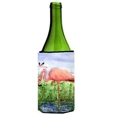 Carolines Treasures KR9030LITERK Bird Flamingo Wine Bottle Hugger 24 oz.