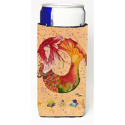 Red Headed Ginger Mermaid On Coral Michelob Ultra s For Slim Cans 12 oz.