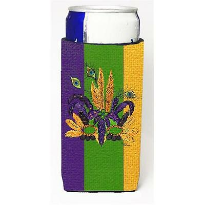 Mardi Grass Feathered Mask Michelob Ultra bottle sleeves For Slim Cans 12 oz.