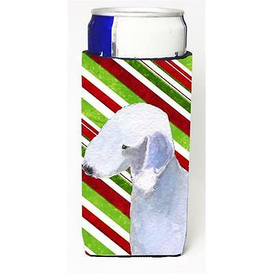 Bedlington Terrier Candy Cane Holiday Christmas Michelob Ultra s For Slim Can...