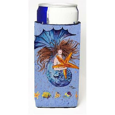 Brown Headed Mermaid On Blue Michelob Ultra s For Slim Cans 12 oz.