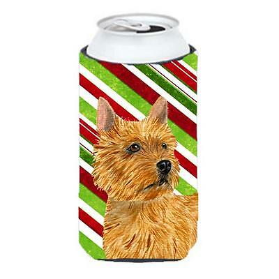 Norwich Terrier Candy Cane Holiday Christmas Tall Boy Hugger 22 To 24 oz.