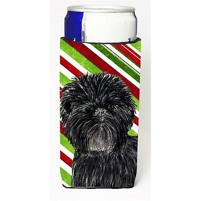 Affenpinscher Candy Cane Holiday Christmas Michelob Ultra s For Slim Cans 12 oz.