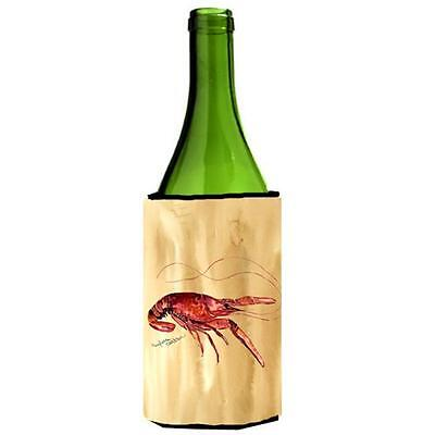Carolines Treasures 8230LITERK Crawfish Sandy Beach Wine Bottle Hugger 24 oz.