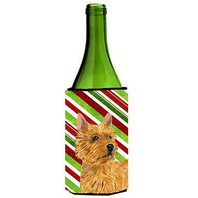 Norwich Terrier Candy Cane Holiday Christmas Wine Bottle Hugger 24 oz.