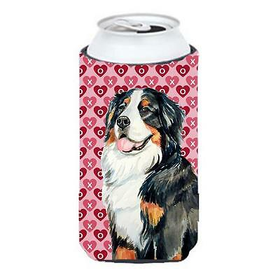 Bernese Mountain Dog Love Valentines Day Portrait Tall Boy bottle sleeve Hugg...