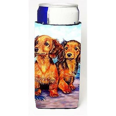 Long Hair Red Dachshund Two Peas Michelob Ultra bottle sleeves For Slim Cans ...