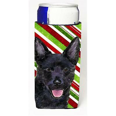 Australian Kelpie Candy Cane Holiday Christmas Michelob Ultra s For Slim Cans...