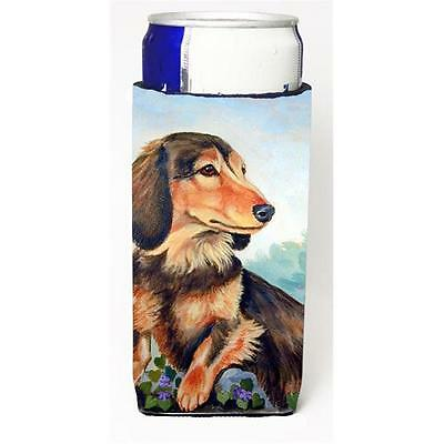 Long Hair Chocolate And Cream Dachshund Michelob Ultra bottle sleeves For Sli...