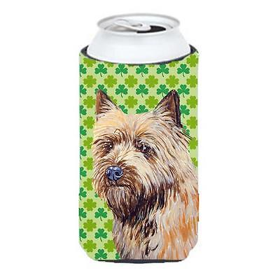 Cairn Terrier St. Patricks Day Shamrock Portrait Tall Boy bottle sleeve Hugger