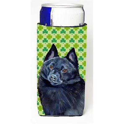 Schipperke St. Patricks Day Shamrock Portrait Michelob Ultra bottle sleeves f...