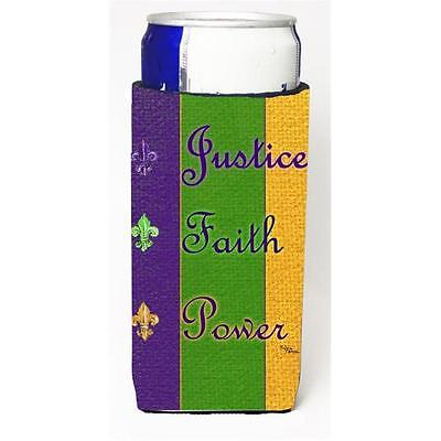 Mardi Grass Peace Faith And Justice Michelob Ultra bottle sleeves For Slim Ca...