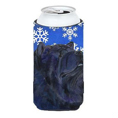 Chow Chow Winter Snowflakes Holiday Tall Boy bottle sleeve Hugger 22 to 24 oz.