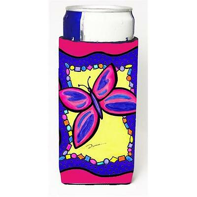 Carolines Treasures LD6049MUK Butterfly Michelob Ultra s For Slim Cans 12 oz. • AUD 47.47