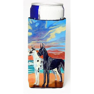 At Sunset Great Dane Harlequin and Black Michelob Ultra bottle sleeve for Sli...