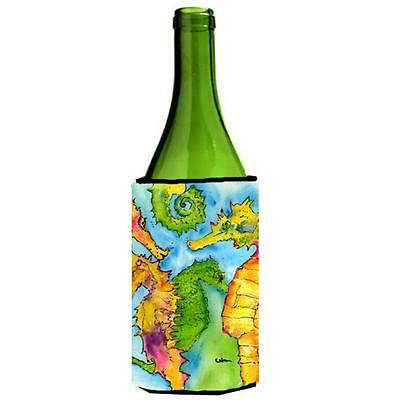 Carolines Treasures 8546LITERK Seahorse Wine bottle sleeve Hugger 24 oz.
