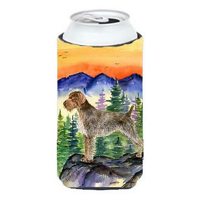 German Wirehaired Pointer Tall Boy bottle sleeve Hugger 22 to 24 oz.