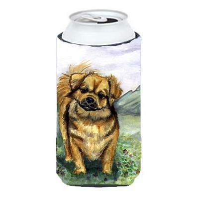 Carolines Treasures Tibetan Spaniel Tall Boy bottle sleeve Hugger 22 to 24 oz.