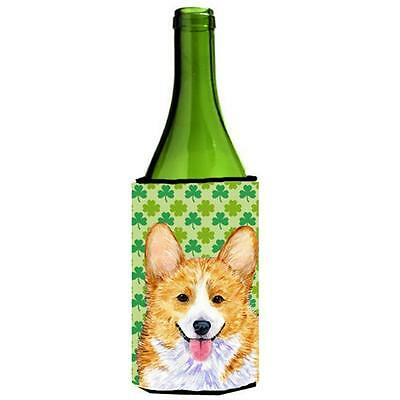Corgi St. Patricks Day Shamrock Wine bottle sleeve Hugger 24 oz.