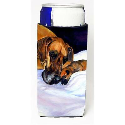 Natural Eared Fawn Great Dane Momma And Puppy Michelob Ultra bottle sleeves F...
