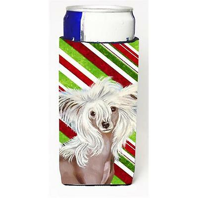 Chinese Crested Candy Cane Holiday Christmas Michelob Ultra bottle sleeves Fo...