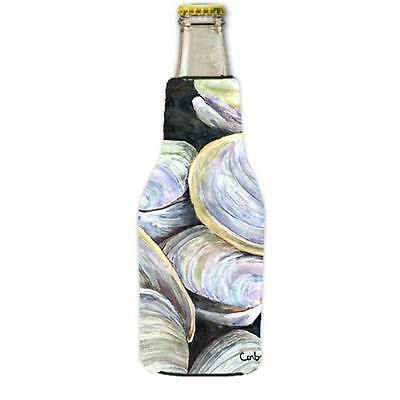 Clam Quahog Longneck Beer bottle sleeve Hugger With Zipper 12 oz.
