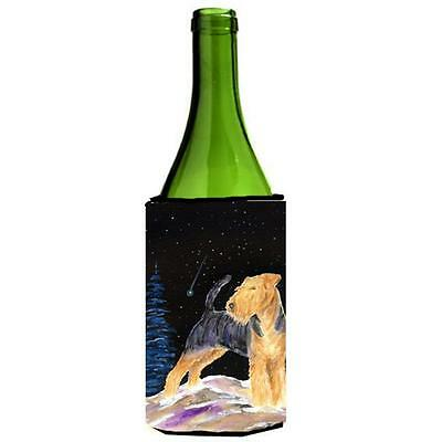 Carolines Treasures Starry Night Welsh Terrier Wine bottle sleeve Hugger 24 oz.