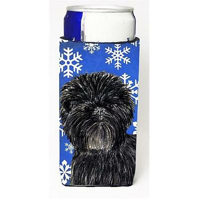 Affenpinscher Winter Snowflakes Holiday Michelob Ultra bottle sleeves For Sli...