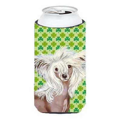 Chinese Crested St. Patricks Day Shamrock Portrait Tall Boy bottle sleeve Hug... • AUD 47.47