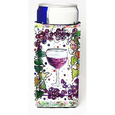 Carolines Treasures Red Wine Michelob Ultra bottle sleeves for slim cans 12 oz. • AUD 47.47