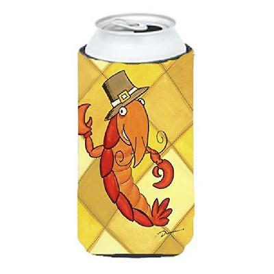 Carolines Treasures Crawfish Thanksgiving Tall Boy bottle sleeve Hugger
