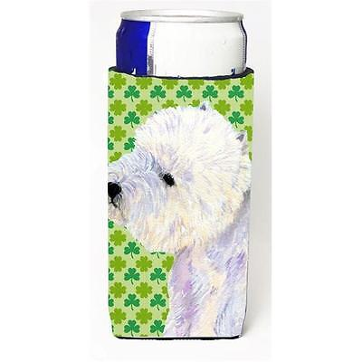 Westie St. Patricks Day Shamrock Portrait Michelob Ultra bottle sleeve for Sl...